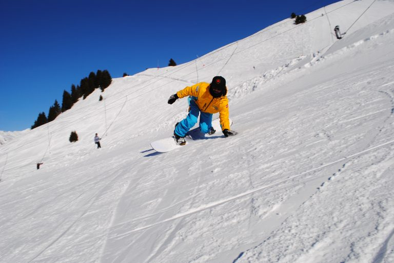 Snowboard group lessons